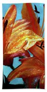 Tiger Lilies After The Rain - Painted Beach Towel