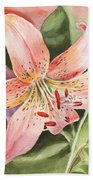 Tiger Lily Watercolor By Irina Sztukowski Beach Towel