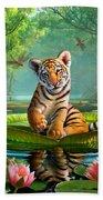 Tiger Lily Beach Towel by Jerry LoFaro