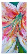 Tiger Lily Passion Beach Towel