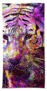 Tiger Surreal Painting Predator  Beach Towel