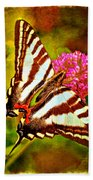 Zebra Swallowtail Butterfly - Digital Paint 3 Beach Towel