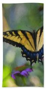 Tiger Swallowtail Painting Beach Towel