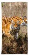 Tigers Burning Bright Beach Towel