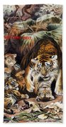 Tigers For Responsible Tourism Beach Towel