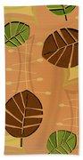 Tiki Lounge Wallpaper Pattern Beach Towel