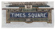 Tile Mosaic Sign, Times Square Subway New York, Handmade Sketch Beach Towel