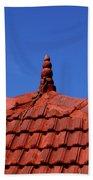 Tiled Roof Near Ooty, India Beach Towel