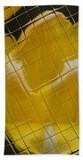 Tiled Yellow Tulip Beach Towel