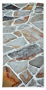 Tiles From Sandstone Quarried Stone Beach Towel