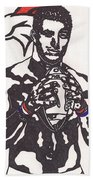 Tim Tebow 2 Beach Towel by Jeremiah Colley