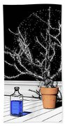 Time Aerials Time Aerials In A Pot Beach Towel by Russell Kightley