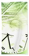 Time Is Money  Beach Towel by Les Cunliffe