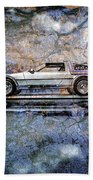 Time Machine Or The Retrofitted Delorean Dmc-12 Beach Towel