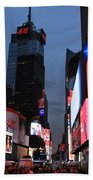 Time Square New York City Beach Sheet