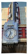 Time Theater Marquee 1938 Beach Towel