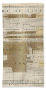 Timeline Map Of The Historic Empires Of The World - Chronographical Map - Historical Map Beach Towel