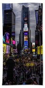 Times Square From The Steps Beach Towel