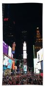 Times Square On A Tuesday. Beach Towel