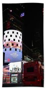 Times Square On News Year Eve Beach Towel
