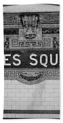 Times Square Station Tablet Beach Towel