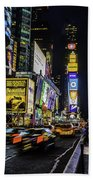 Times Square Traffic Beach Towel