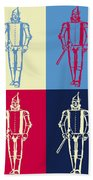 Tin Man Pop Art Poster Beach Towel