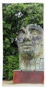 Tindaro Screpolato Sculpture In Boboli Garden 0197 Beach Towel