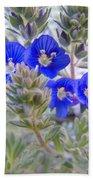 Tiny Blue Floral Beach Towel