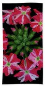 Tiny Bunch Of Red And Pink Flowers Beach Towel