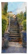 Tipsy Stairs Beach Towel