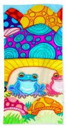 Toads And Toad Stools Beach Towel