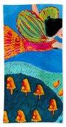 Toadstool Fairy Flies Again Beach Towel