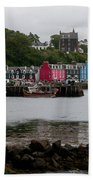 Tobermory Town Cityscape, Isle Of Mull Beach Towel