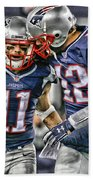 Tom Brady Art 1 Beach Towel