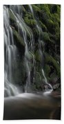 Tom Gill Waterfall, Cumbria, England Beach Towel