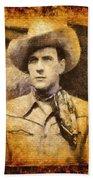 Tom Tyler, Vintage Western Actor Beach Towel