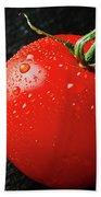 Tomatoes Close Up On Black Slate Beach Sheet