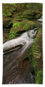 Tompkins Falls Catskills N.y.-7 Beach Towel