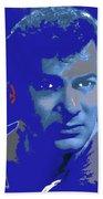 Tony Curtis Circa 1960 Color Added 2012 Beach Towel