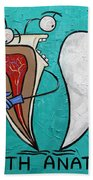 Tooth Anatomy Beach Towel