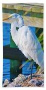 Topsail Egret Beach Towel