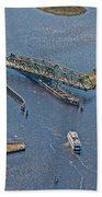 Topsail Swing Bridge Beach Towel