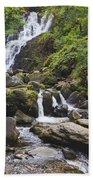 Torc Waterfall In Killarney National Beach Towel