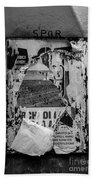 Torn Posters Rome Italy Beach Towel
