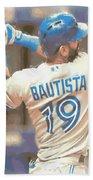 Toronto Blue Jays Jose Bautista 2 Beach Towel