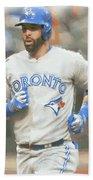 Toronto Blue Jays Jose Bautista Beach Towel