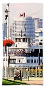 Toronto Island Ferry Arrives Beach Towel