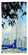 Toronto Through A Forest Of Masts Beach Towel