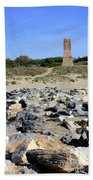 Torre De Los Ladrones At Cabopino Beach Towel